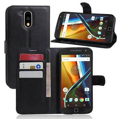 Premium Leather Flip Case Wallet Cover For Moto G3 G4 G5 G6 E4 E5 Mobile Phones