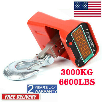 3000kg Hanging Scale Crane Scale Heavy Duty Industrial Lcd Display 6600lbs