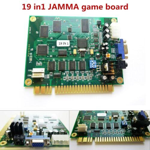 19 in 1 Horizontal Multicade Arcade Multigame PCB Board FOR JAMMA Video Game