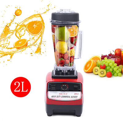 1500w 2hp Commercial Blender Mixer Juicer Power Food Processor Smoothie Bar Fast