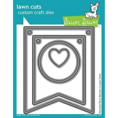 Customized Party Banners (Lawn Fawn Lawn Cuts Custom Craft Die  LF687 Stitched Party)