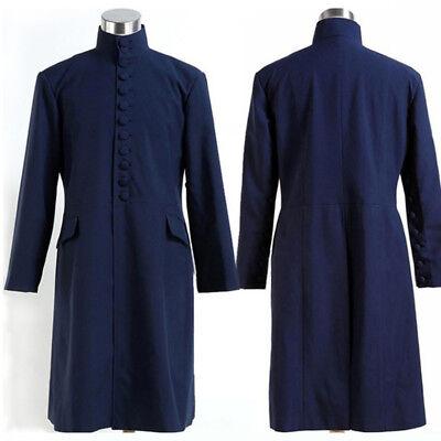 Harri Potter Deathly Hallows Severus Snape Blue Uniform Cloak Costume Cosplay](Harris Costume)