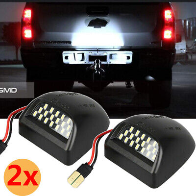 Rear License Plate LED Light Fit Chevrolet Silverado GMC Sierra 1500 2500 99-14