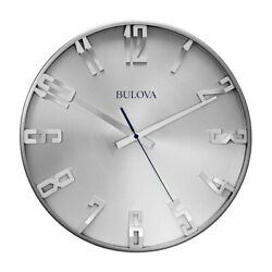 Bulvoa Clocks Director 16 Inch Slim Metal Analog Wall Clock, Satin Pewter (Used)