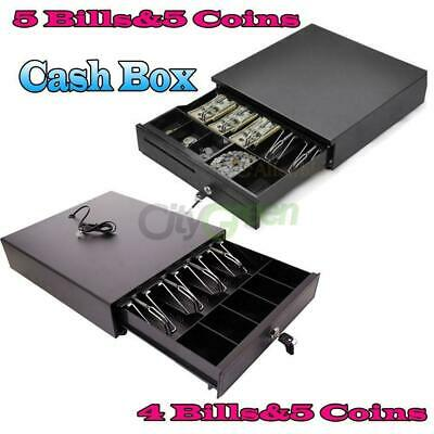 Cash Register Drawer Box 45 Bill 5 Coin Tray Compatible Works Pos Printers Rj11