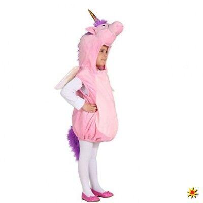 Gr. 104 Kinder Fasching Karneval Märchen Pferd Mia Me (Rosa Pferd Kostüm)