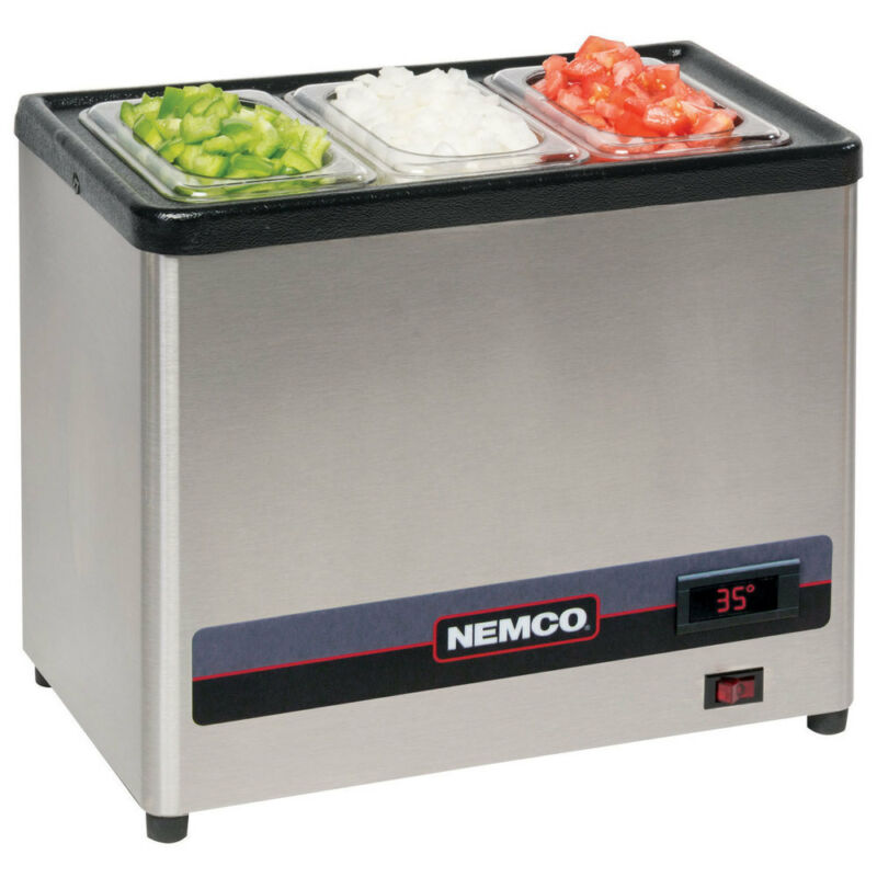 Nemco 9020 Stainless Steel Countertop Cold Condiment Chiller