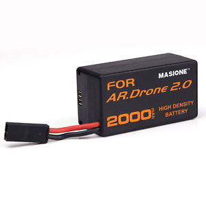 New 11.1V 20C 2000mAh High Capacity Battery for Parrot AR.Drone 2.0 Helicopter