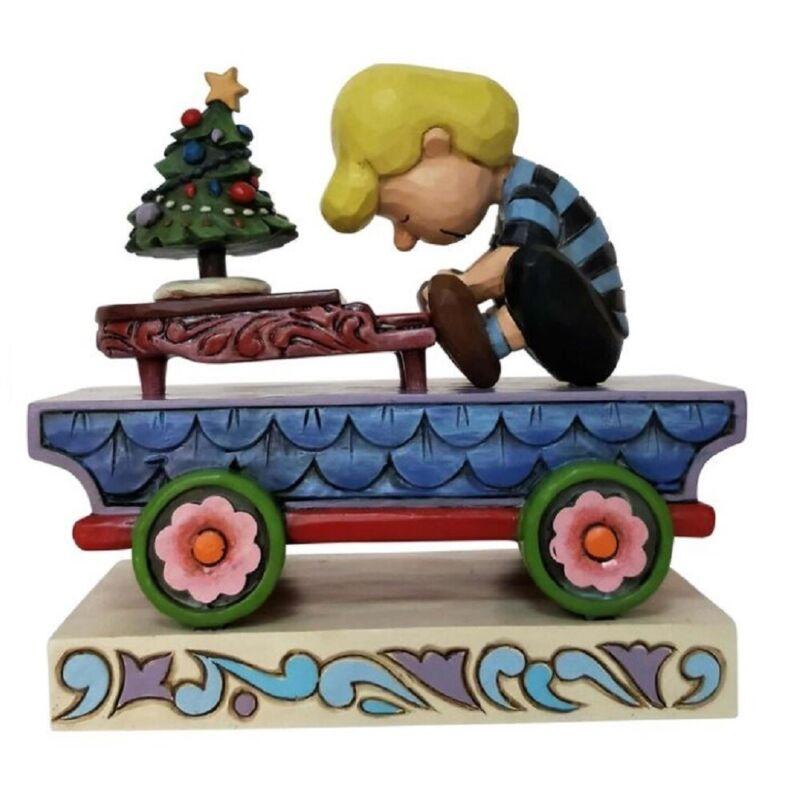 Jim Shore Peanuts Christmas Concerto Schroeder Christmas Train Car 6003028 New