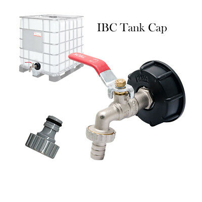 Ibc Tank Adapter Brass Garden Tap With 12 Snap On Hose Connector For Ton Valve