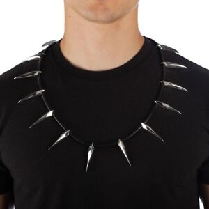 Black Panther Cosplay Spiked Collar Necklace Marvel Comics Avengers Spikes NEW
