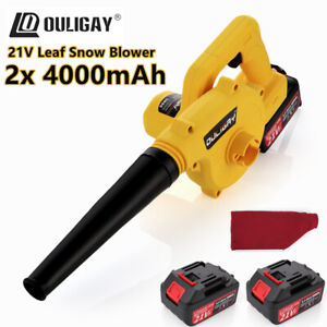 21V 2x 4000mAh Cordless Garden Yard Leaf Snow Blower Air Vacuum Lightweight 2in1
