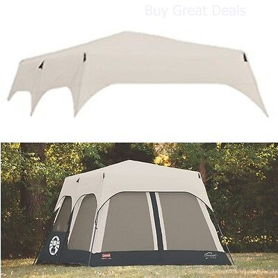 Coleman Accy Rainfly Instant 8 Person Tent Accessory Black 14x10-feet - NEW  sc 1 st  Trainers4Me : coleman instant canopy screenwall accessory - memphite.com