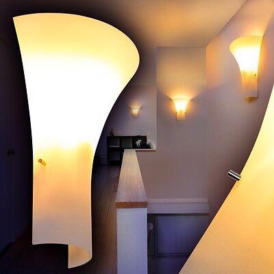 Wandleuchte Design Flurlampe Glas Wandlampe weiß Wandstrahler Lampe mit Schalter