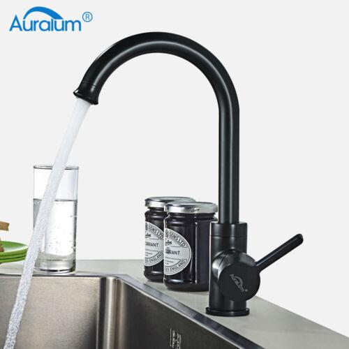 Schwarz Küchenarmatur LED Wasserhahn Spültischarmatur Mischbatterie für Küche