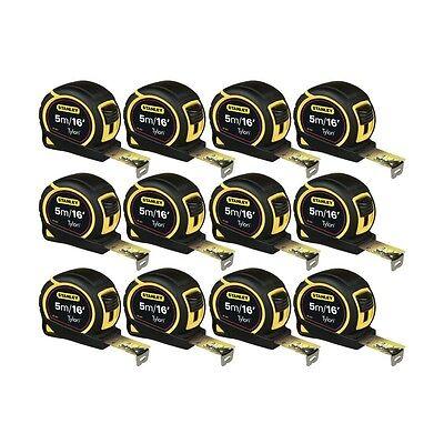 12 Stanley 5M Tape Measure 5 Metre /16ft 130696 Tylon 1-30-696 Measuring NEW