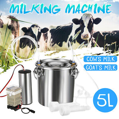 5l Portable Electric Milking Machine Vacuum Pump For Farm Cow Sheep Goat Milking