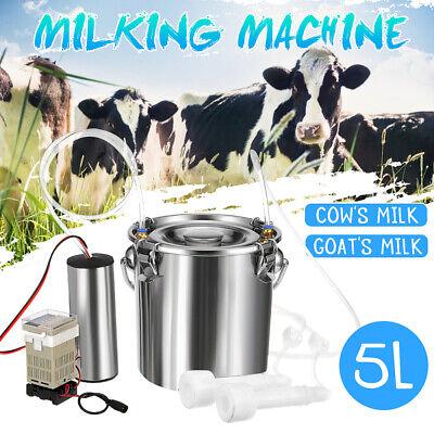 5l Portable Electric Milking Machine Vacuum Pump For Farm Cow Sheep Goat Milking