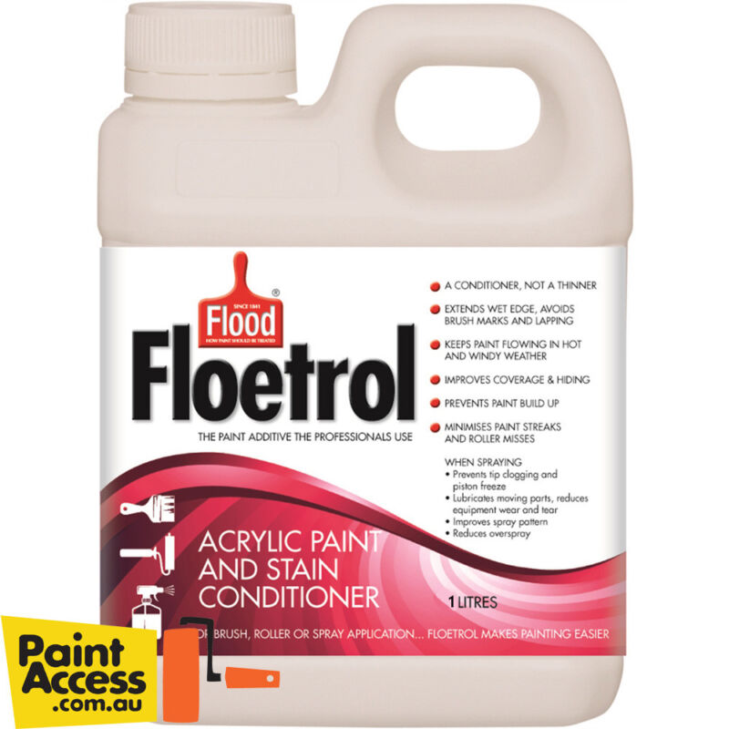 Flood Floetrol Acrylic Paint Conditioner 1 Liter -makes paint flow-FREE SHIPPING