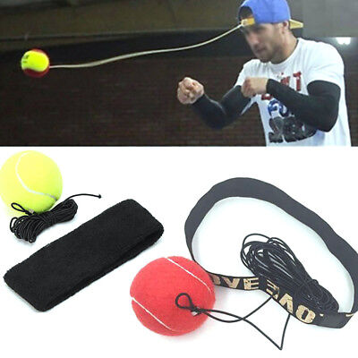 Fight Ball With Head Band For Reflex Speed Training Boxing Punch Exercise Usa