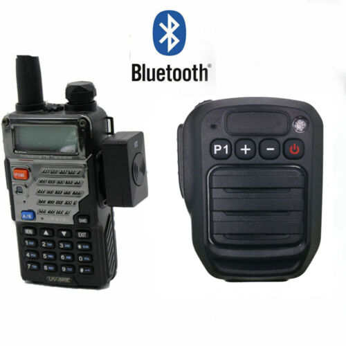 Bluetooth Wireless PTT Speaker Mic FOR KENWOOD TYT BAOFENG UV5R Radio iPhone