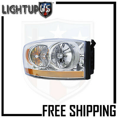 Headlights Headlamps Right Only for 06-08 Dodge Ram 1500 2500 3500