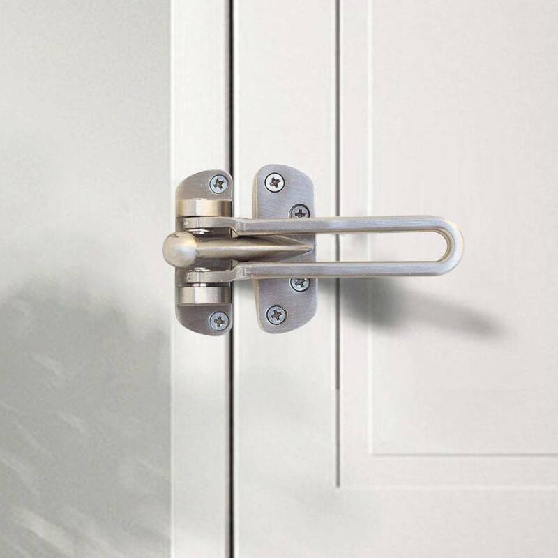 Door Safety Lock Guard Catch Latch Security Chain Restrictor with Screws