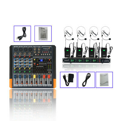 STARAUDIO 4 Channel 2000W Powered Stage Party Audio Mixer 4CH Headset Microphone