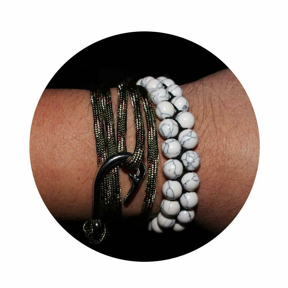 8MM Lava Rock Oil Bracelets