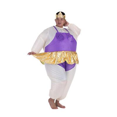 Ballerina Fat Suit (Cute Adult Inflatable Ballerina Costume Fat Suit for Women/Men Air Fan)