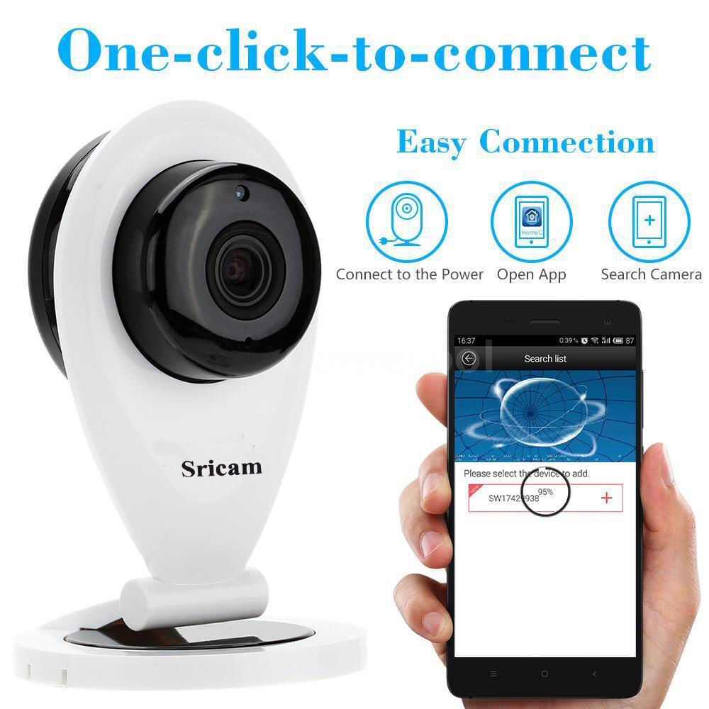 sricam 720p indoor wireless wlan wifi ip kamera netzwerk berwachung webcam jk eur 21 30. Black Bedroom Furniture Sets. Home Design Ideas