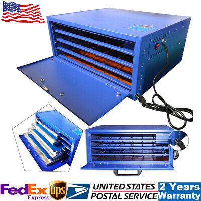 800w Silk Screen Printing Drying Cabinet 4-layer Warming Exposure Unit 25 X 21in