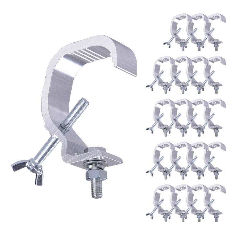 20pcs Small Stage Light Hook Aluminum Alloy Clamp Mount LED Moving Head 44lbs