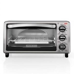 NEW BLACK+DECKER 4 Slice Toaster Oven, 4 Functions, TO1313SBD Condtion: New, Toaster Oven