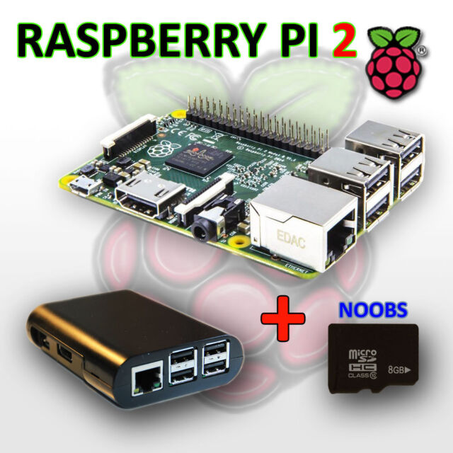 RASPBERRY PI 2 - Model B 1GB RAM, 900 MHz Quad Core CPU, NOOBS