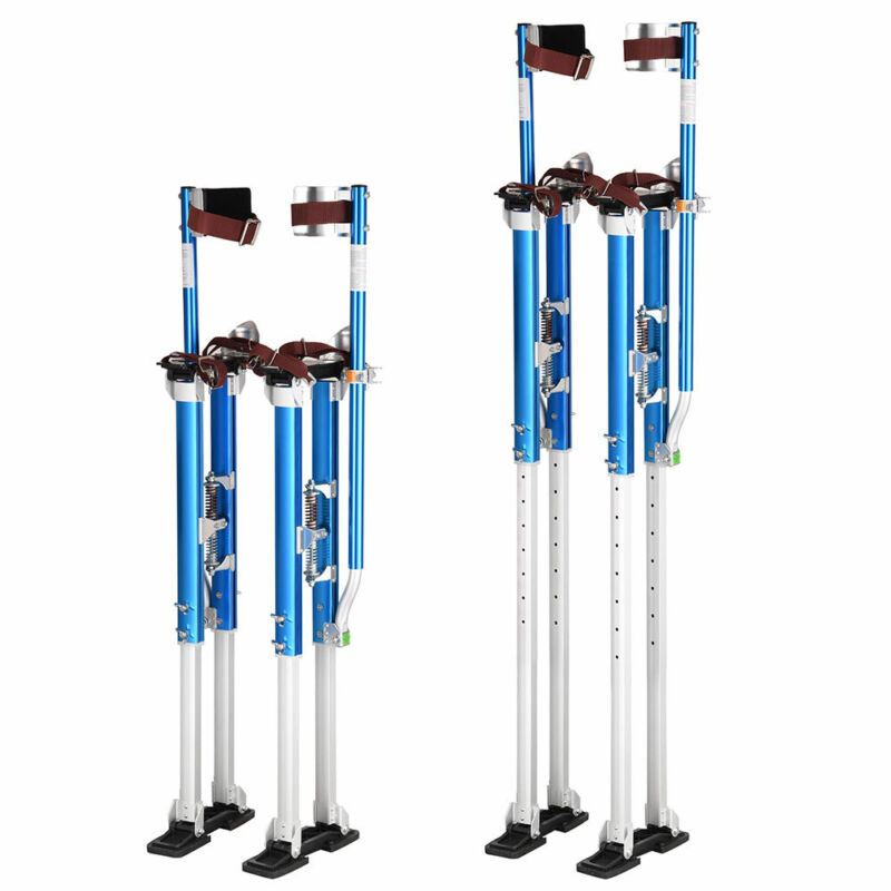 "Aluminum Blue Drywall Stilts 36"" - 50"" Adjustable for Painting Painter Taping"