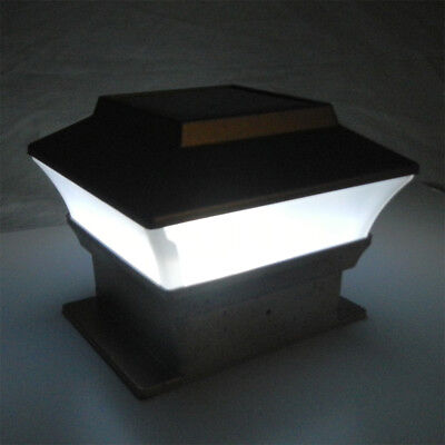 8 Outdoor Garden Solar LED Post Deck Cap Square Fence Light Landscape Lamp