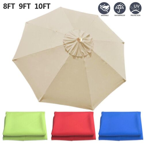 Blue BenefitUSA Replacement Umbrella Canopy Cover for 6.5ft 6 Ribs Patio Market Umbrella CANOPY ONLY