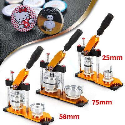 25/58/75mm Button Maker Machine+100 Buttons Circle Badge Punch Press+Cutter