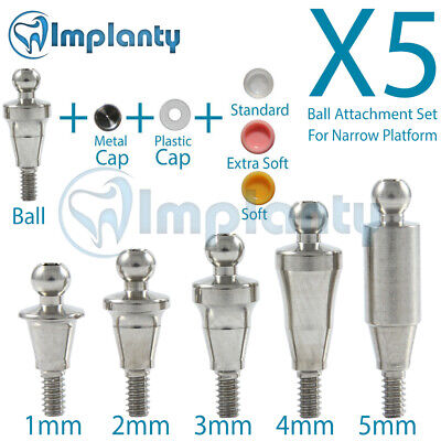 5 Ball Attachment Abutment Full Set Dental Implant Similar Nobel Active Np 3.5