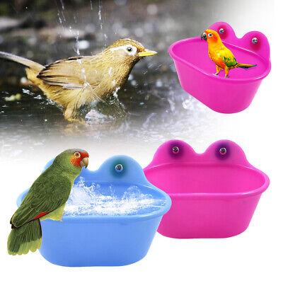 Kunststoff Vögel Käfig Bad Waschbecken Badewanne für Haustiere Klein Vogel L/P (Kleine Kunststoff-waschbecken)
