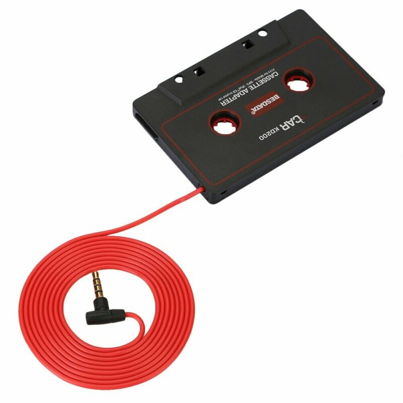 Audio Cassette Tape Adapter Aux Cable Cord Jack for to MP3 iPod w/ Microphone