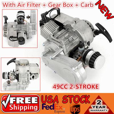 49CC 2-STROKE HIGH PERFORMANCE ENGINE MOTOR For POCKET MINI BIKE SCOOTER ATV US ()
