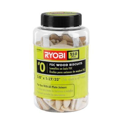 Ryobi A05WB01 FSC Wood Biscuits 150 PC 150-piece #0 wood biscuits 5/8