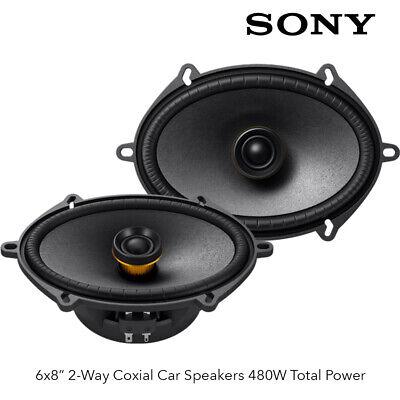 "Sony XS-680ES - 6 x 8"" 2-Way Coaxial Speakers 480W Total Power"