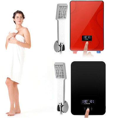 6500W 220V Digital Electric Tankless Instant Hot Water Heater Shower for