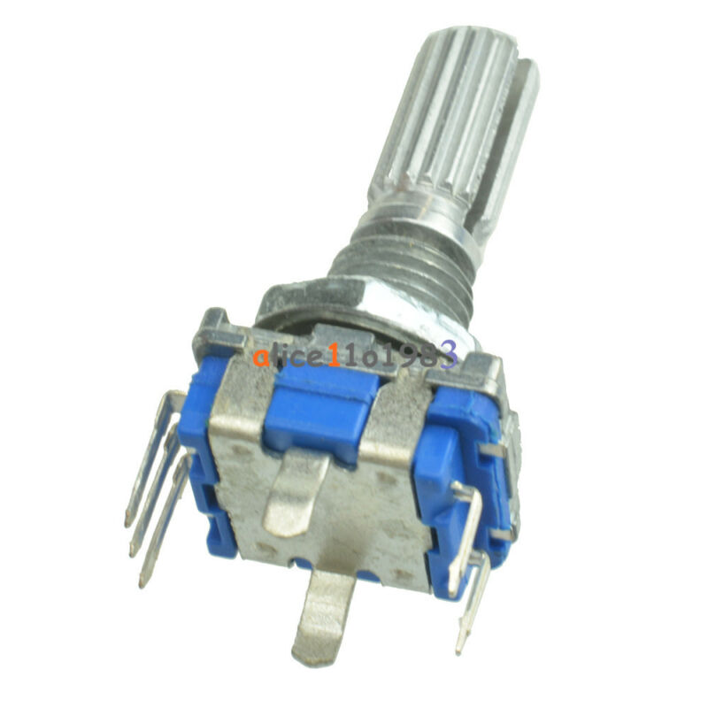 5pcs Rotary encoder with switch EC11 Audio digital potentiometer 20mm handle
