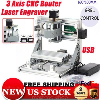 Mini Cnc Router 1610 500mw Laser Engraver Machine Pcb Milling Grbl Control