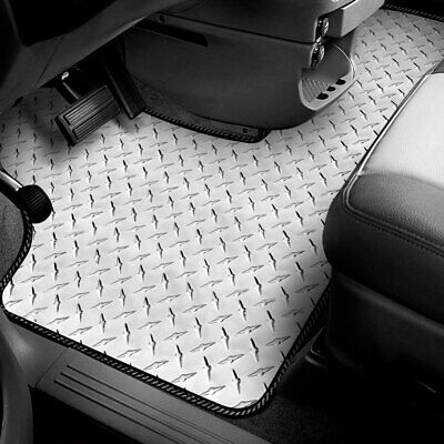For Ford Courier 1974-1979 Intro-Tech Diamond Plate 1st Row Floor Mat