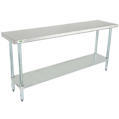 Regency 18 X 72 Stainless Steel Commercial Work Table With Undershelf